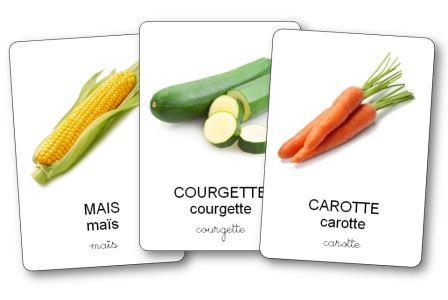 Imagier des légumes à imprimer