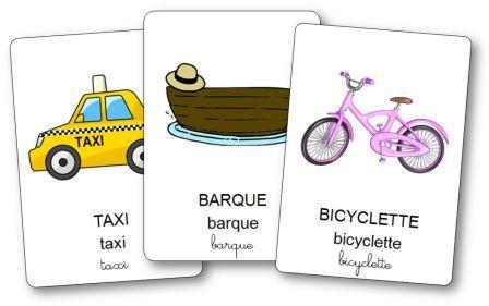 Imagier des moyens de transport, imagier moyens de transport