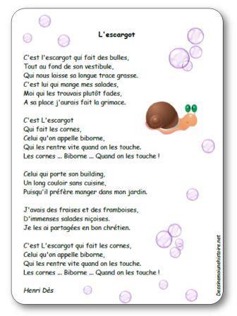 Comptines sur les escargots chanson escargots maternelle - Petit escargot porte sur son dos paroles ...