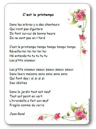 Chanson c est le printemps Jean René, chanson C est le printemps