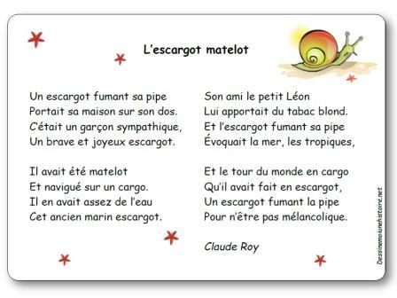 L escargot matelot de claude roy po sie illustr e imprimer l escargot matelot - La maison des escargots ...