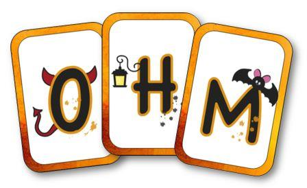 Cartes alphabet Halloween, cartes de l'alphabet Halloween