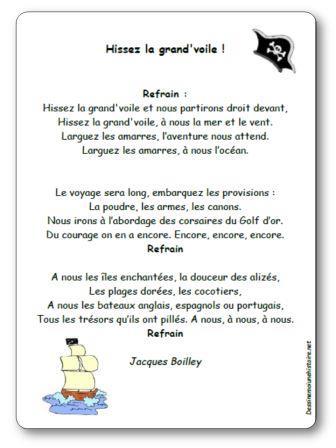 Chanson Hissez la grand voile de Jacques Boilley