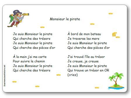 Comptine Monsieur le pirate