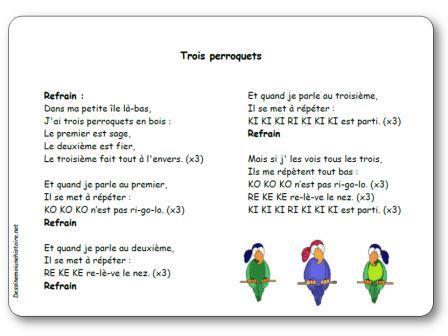 Comptine Trois perroquets