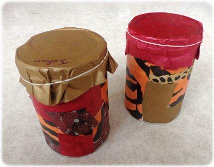 Fabriquer un djembé avec une boite de conserve