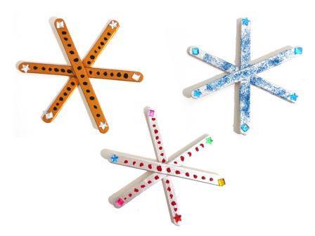 Fabriquer une étoile de Noël avec des bâtonnets en bois, étoile de Noël bâtonnets