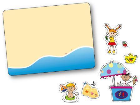 Jeu de topologie sur le thème de l'été : à la plage, jeu topologie plage