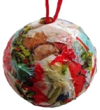 Boule de Noël décorée en décopatch, boule de Noël serviette en papier