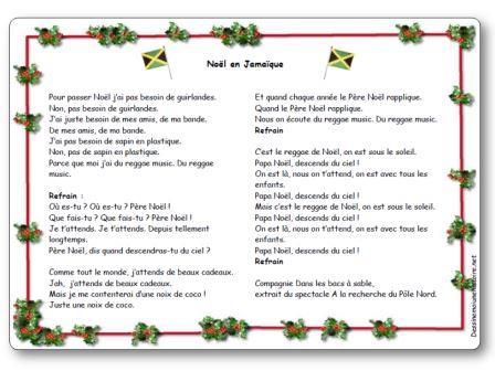 Chanson Noël en Jamaïque Compagnie Dans les bacs à sable, Chanson Noël en Jamaïque