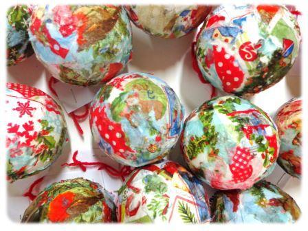 Fabriquer une Boule de Noël en décopatch maternelle