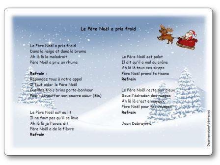 Poésie Le Père Noël a pris froid Jean Debruynne