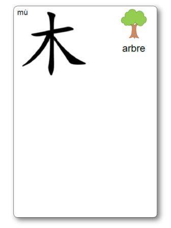 Caractère chinois Arbre