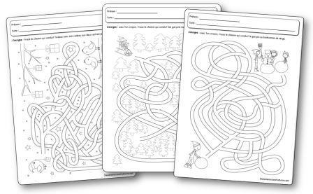Fiches d activités Labyrinthes de l hiver
