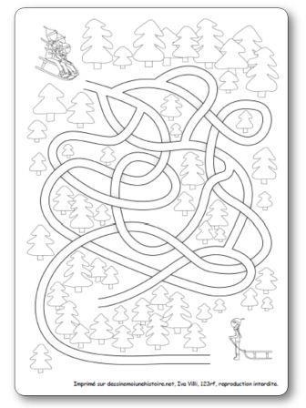 Labyrinthe de l hiver La luge
