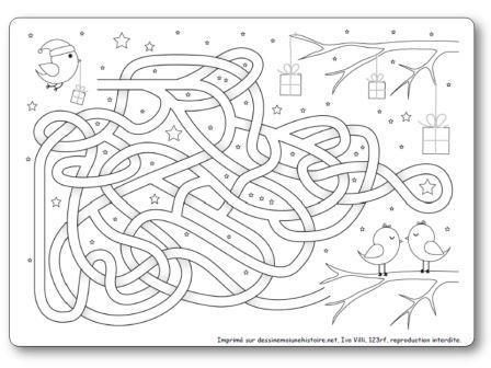 Labyrinthe de l hiver Petits oiseaux, labyrinthe hiver