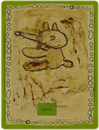Peinture aborigène avec des épices