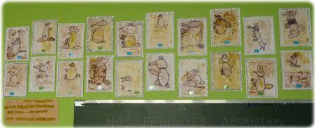 Peintures aborigènes avec des épices, art aborigène australie maternelle