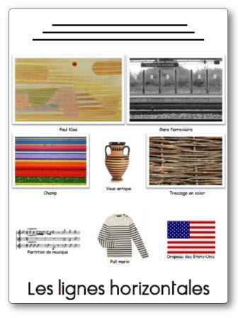 Affichage en graphisme : les lignes horizontales
