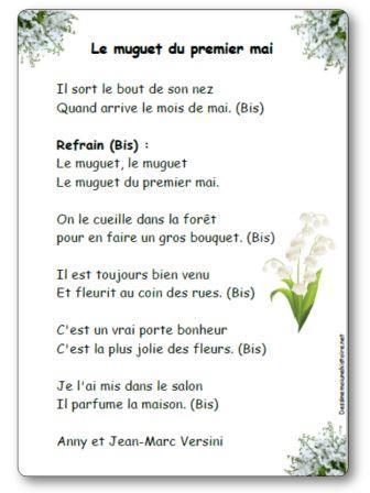 Chanson Le muguet du premier mai Versini