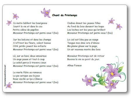 Chant du printemps d 39 alhas fonean paroles illustr es chant du printemps - Chant fauvette des jardins ...