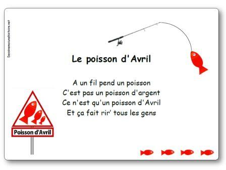Comptine Le poisson d'avril, comptine le poisson d avril