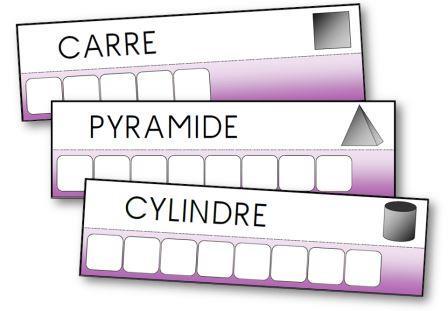 atelier des mots sur les formes géométriques, écrire le nom des formes géométriques
