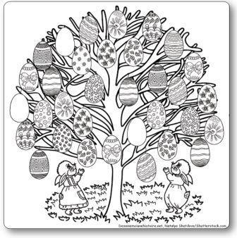 Coloriage g ant imprimer l 39 arbre de p ques - Jeux de tronconneuse qui coupe les arbres ...