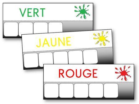 Atelier des mots Les couleurs, écrire le nom des couleurs