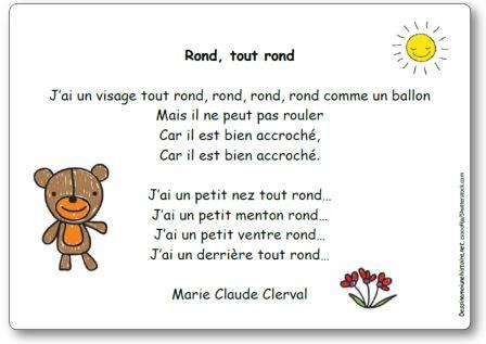 Comptine Rond tout rond Marie Claude Clerval, chanson Rond tout rond