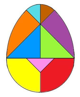 Tangram oeuf à imprimer Egg tangram puzzle, tangram oeuf de Pâques
