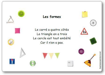 Comptine Les formes (Le carré a quatre côtés...)