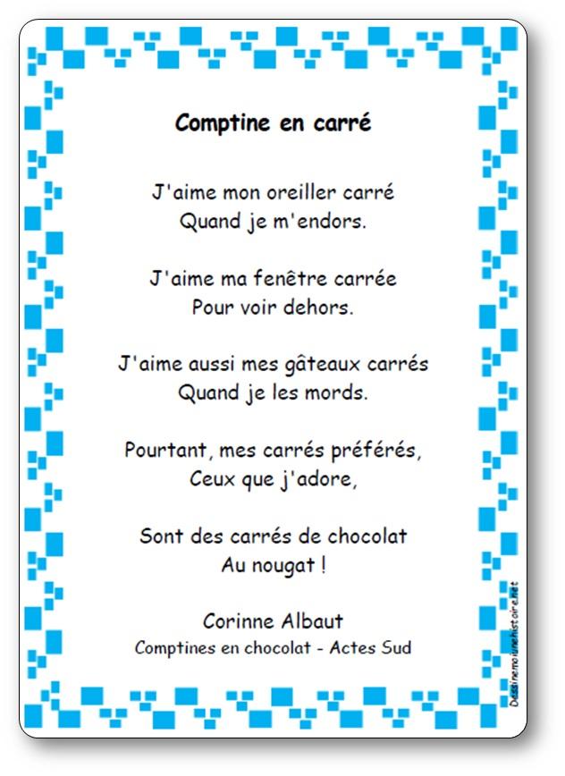 Comptine en carré de Corinne Albaut
