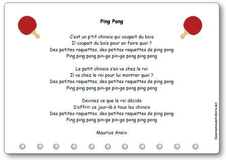 Chanson Ping Pong de Maurice Anoix