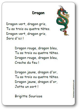 Comptine Dragon Brigitte Sourisse