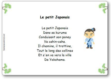 Comptine Le petit japonais, Le petit Japonais dans sa kuruma