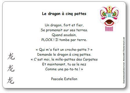 Poésie Le dragon à cinq pattes Pascale Estellon