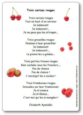 Poésie Trois cerises rouges Elisabeth Ayanidès