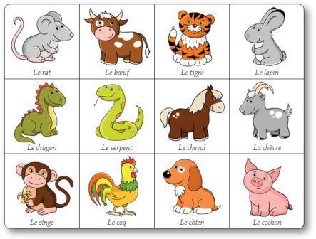 Jeu de mémory des signes du zodiaque chinois, jeu de zodiac gratuit