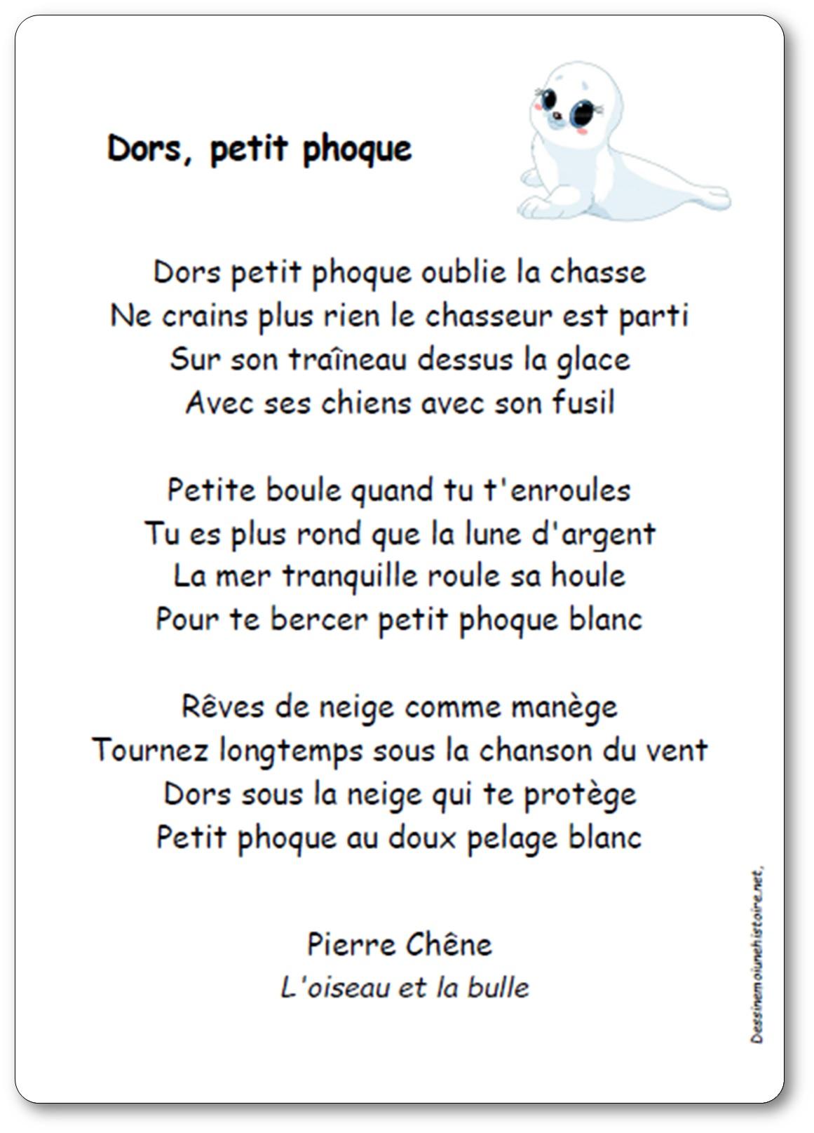 Chanson Dors petit phoque de Pierre Chêne