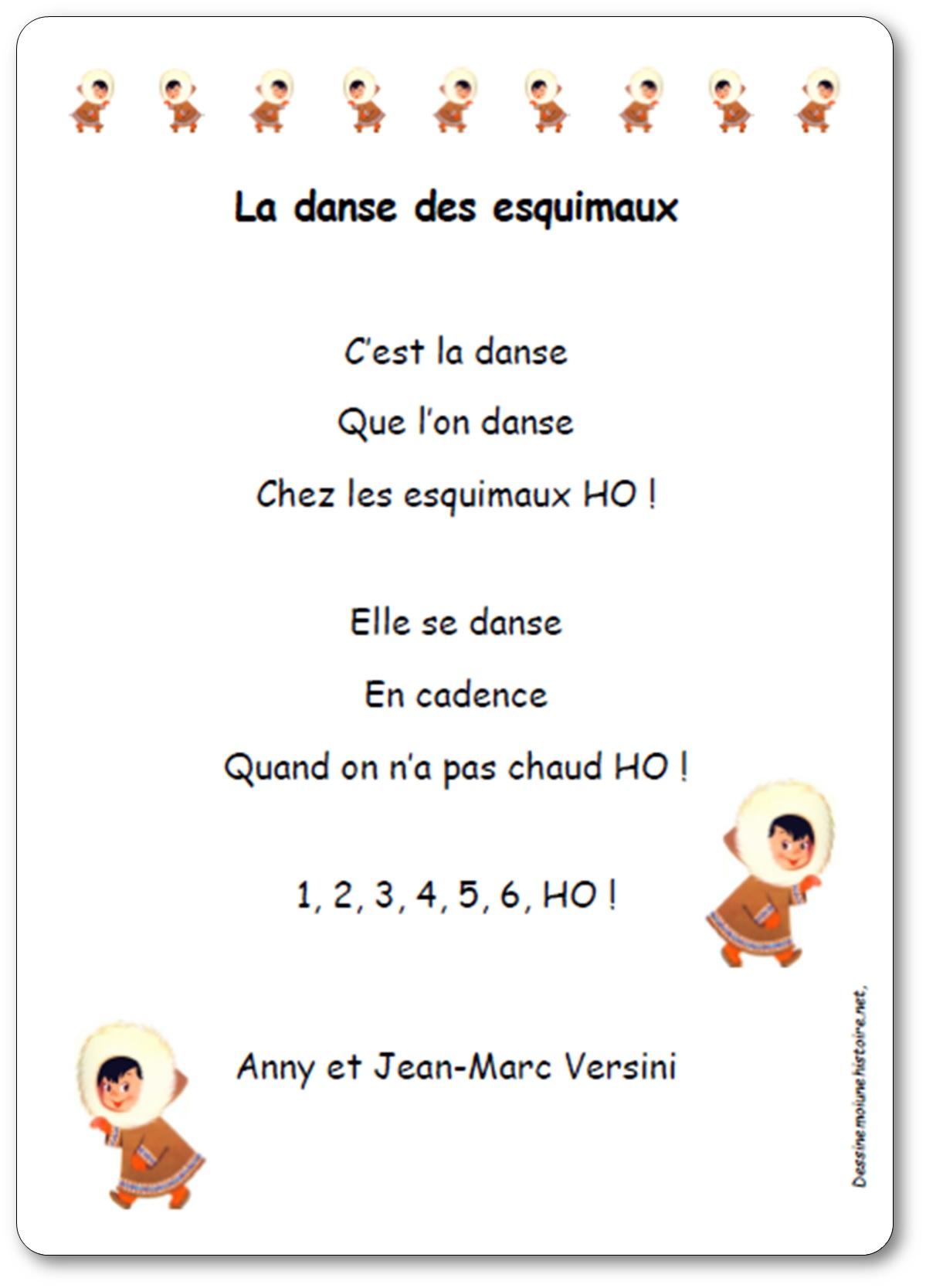 Chanson La danse des esquimaux d'Anny et Jean-Marc Versini