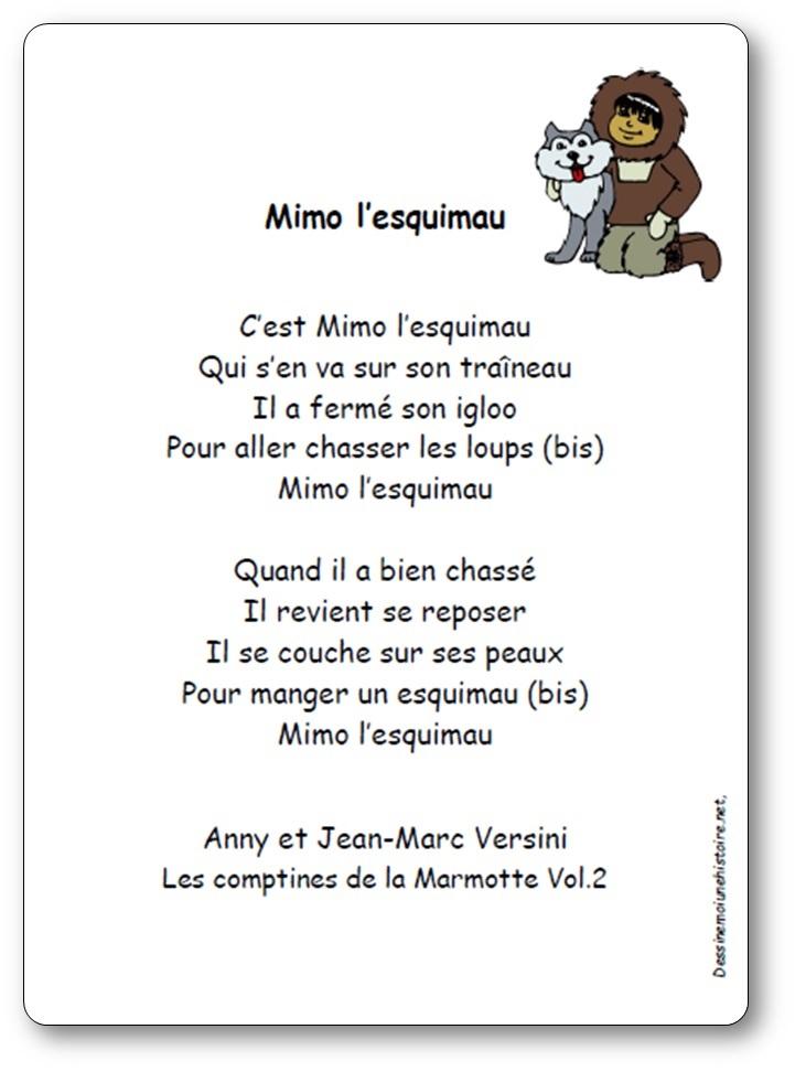 Chanson Mimo l'esquimau d'Anny et Jean-Marc Versini