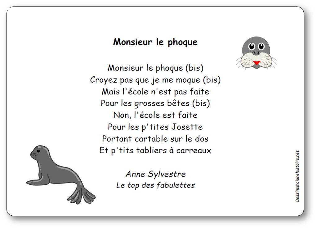 Chanson Monsieur le phoque d'Anne Sylvestre