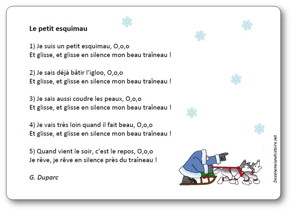 Chanson Le petit esquimau de G. Duparc