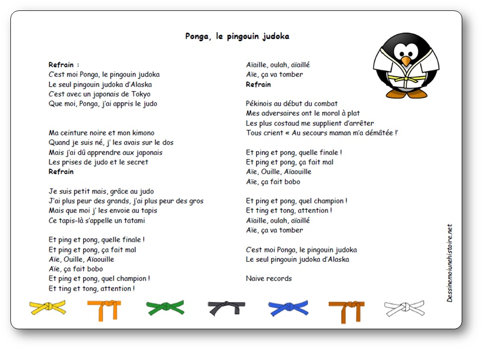 Comptine Ponga, le pingouin judoka