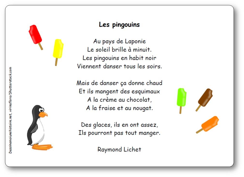 Poésie Les pingouins de Raymond Lichet, poésie pingouin