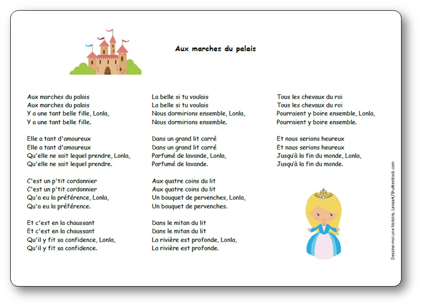 Aux marches du palais, chanson Aux marches du palais