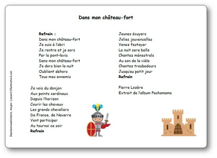 Dans mon château-fort de Pierre Lozère, extraite de l'album Pachanama, Dans mon château fort