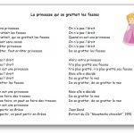 Comptine La princesse qui se grattait les fesses de Jean René