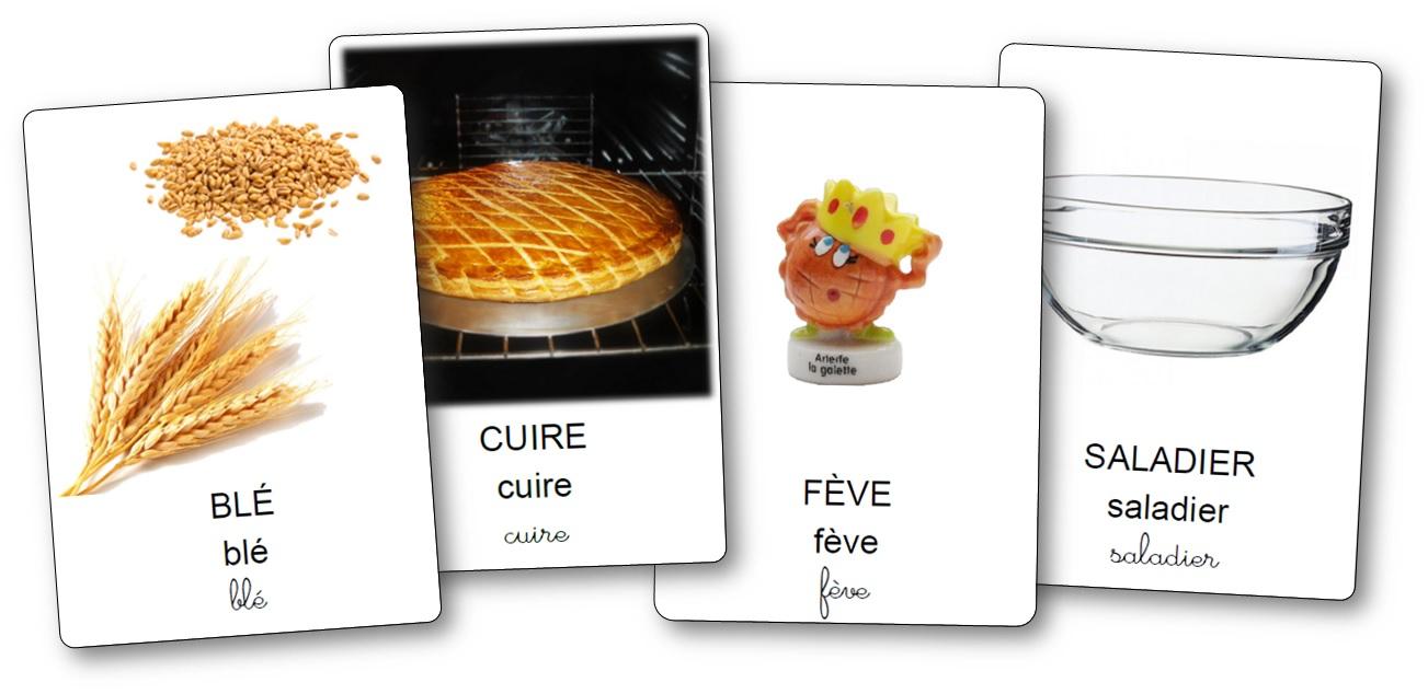 imagier de la recette de la galette des rois, imagier galette